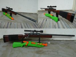 RSCB BuzzBee Hunter / Bolt-Action Nerf Rifle 2 by hoellenhamster