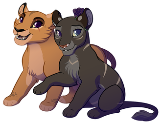 Reign and Sigyn Chibis by KohuStudios