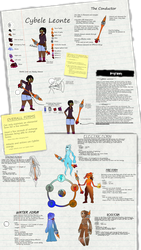 Cybele Leonte and Khaos reference sheet by Extermanet