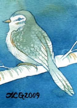 A Little Bird Told Me ATC:ACEO by JLGribble