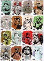 STAR WARS Sketchcards - Troopers by DenisM79