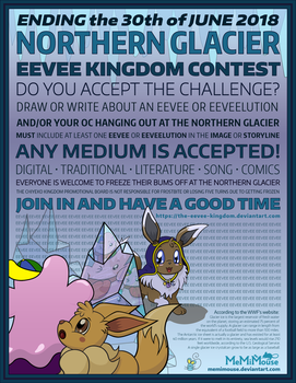 Northern Glacier Contest Poster by MeMiMouse