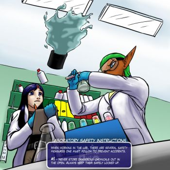 Lab Safety 1/3 by BlooberBoy