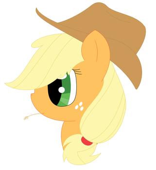 Applejack's portrait by MelodicTwister