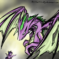 Twilight and Spike by Residentfriendly