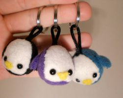 Penguin keychains by radtastical