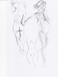 Doodle: Female Figure by ghostsymbol