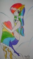 Rainbow Dash Grand Galloping Gala Dress by IcyBloodRaven