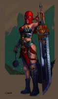 Sister Repentia - Warhammer 40k by badbuckle