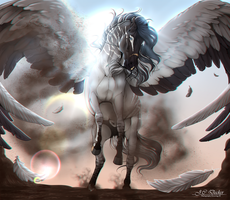 .:| Achilles the Pegasus |:. | Commission by Pashiino
