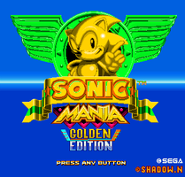 Sonic Mania Golden Edition by shadowNightmare13