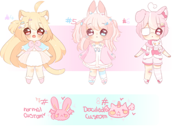 [CLOSED] Kemonomini Adopts #4-8 by pueru--adopts