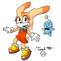 Cream The Rabbit Collab Entry by Toad900