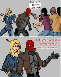 Black Canary and the Red Hood by Jasontodd1fan