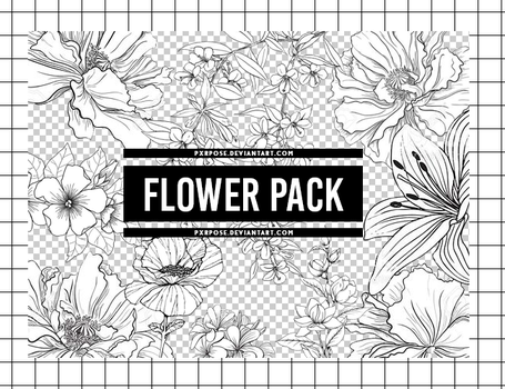 FLOWER PNG PACK by pxrpose