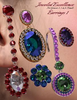 Jeweled Excellence Earrings 1 by mattymanx