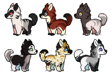 [OPEN ADOPTABLES 1/6] - Puppers by NorthernUrsus