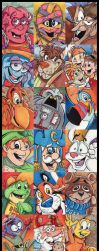 Cereal Mascots Sketchcards by KileyBeecher