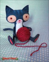 Tom the Cat by plushrooms