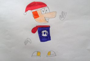 Christmas Rayman by SuperSmash6453
