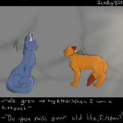 Warriors Screenshot- We grew up together by Icedog829