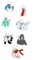 AU Sans Collection by MidnightBlaze16