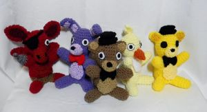 FNAF group by gwilly-crochet