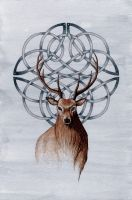 Celtic Stag by dark777fairy