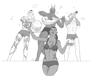 The Glorious Naked Musicians! by Jakiron