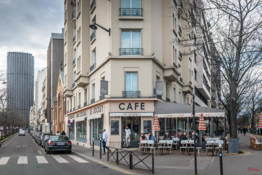 Paris the city of lights - Cafe in Montparnasse by Rikitza