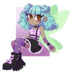 AT  - Spookycutemagic - Pastel Fairy by GubbieArt