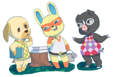 Animal Crossing Hanging out by qeius