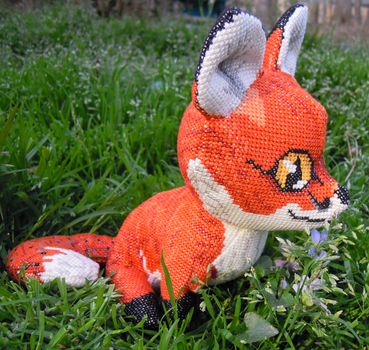 Red Fox 3D Cross Stitch Animal by rhaben