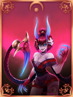 Blood Moon Evelynn by Odeko-Yma