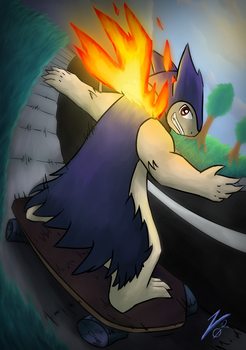 Skating Flame by Lucky02-Overmaster