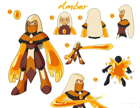 SU Gem OC-Amber (Fan-Made) by SuperSonicGX