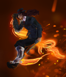 Ar Tr -Flaming detective by AidenDM