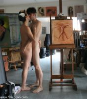 Naked boys kissing in the studio 1 by TheMaleNudeStock