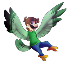 Wing Luigi by BaconBloodFire
