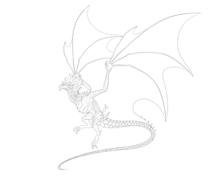 Wyvern Lineart Template (P2U) -OPEN- by LordPuffballAdopts