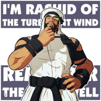 Rashid of the Turbulent Wind + SF5 + by leomon32