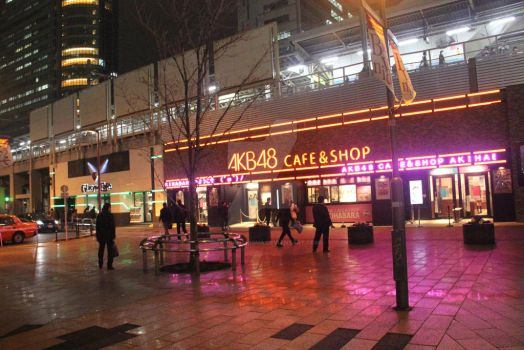 AKB48 Cafe and Gundam Cafe by gilangkharisma