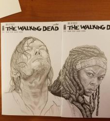 Walking Dead Covers sketch cover commissions by joriley