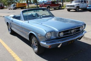 Topless Blue Mustang by KyleAndTheClassics