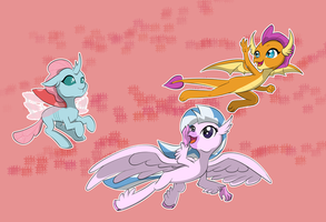 Flying with friends by chedx