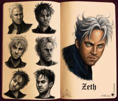 Zeth face sketches by UnicatStudio