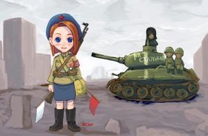 Soviet Female traffic regulator in WWII by lazyseal8