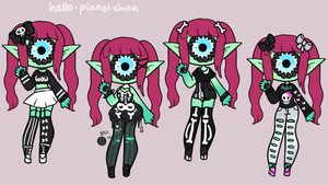 Outfit set - Hanako by hello-planet-chan