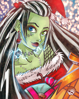 Monster High-Frankie X-mas by ShiChel
