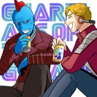 Guardians of The Galaxy: Yondu and Peter by Evelynism